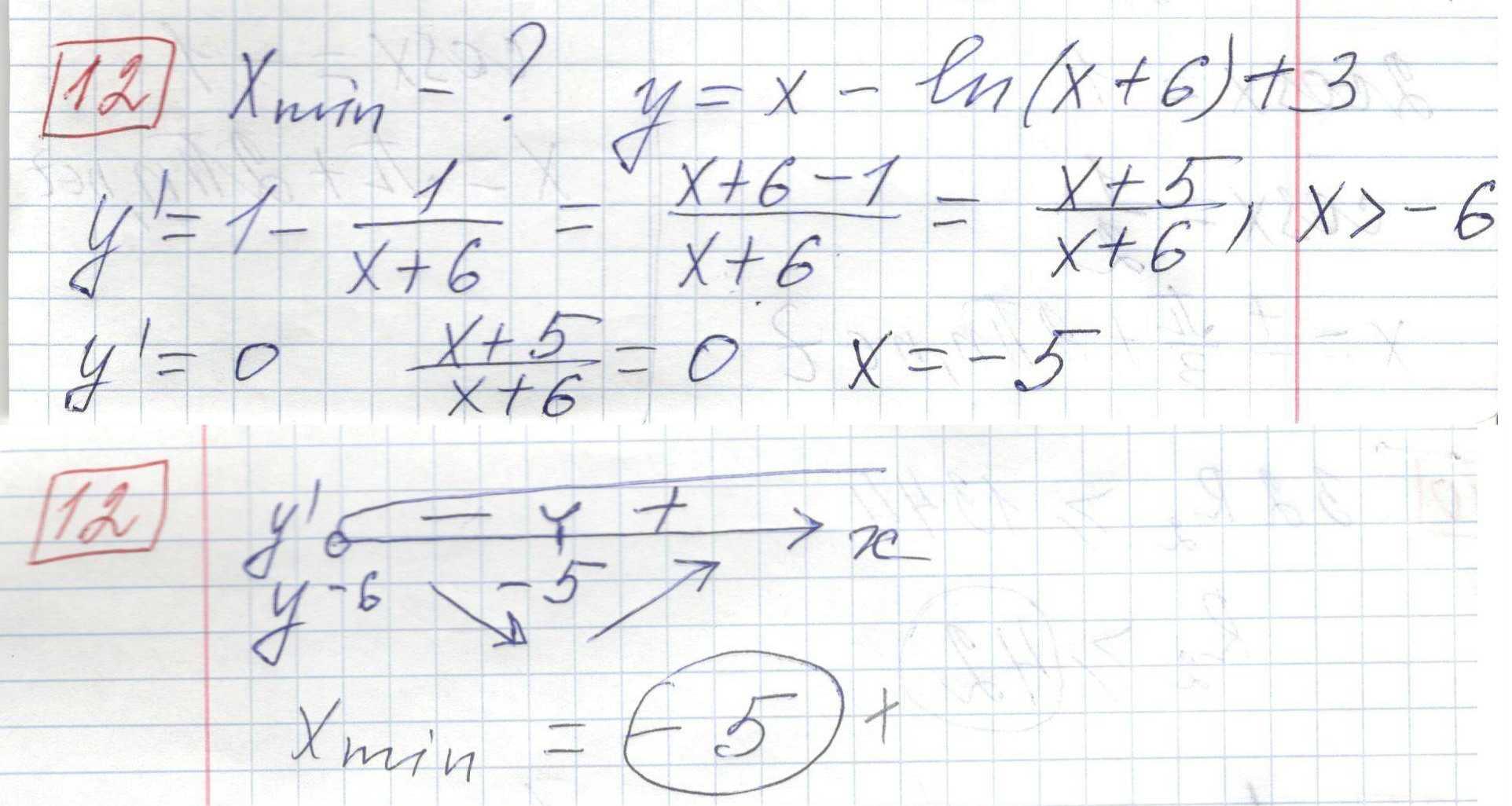 Задние 12, Вариант 1 решение и ответ - Ященко ЕГЭ 2018 математика профиль 36 вариантов