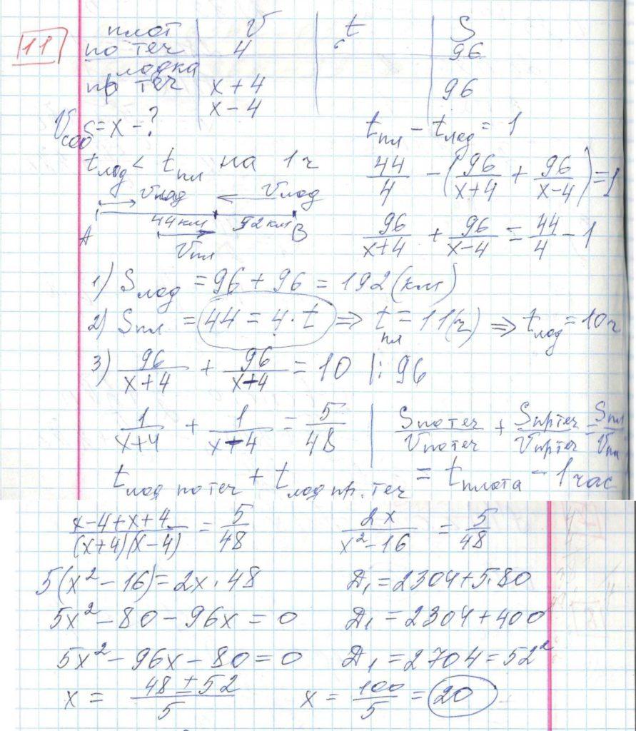 Задние 11, Вариант 2 решение и ответ - Ященко ЕГЭ 2018 математика профиль 36 вариантов