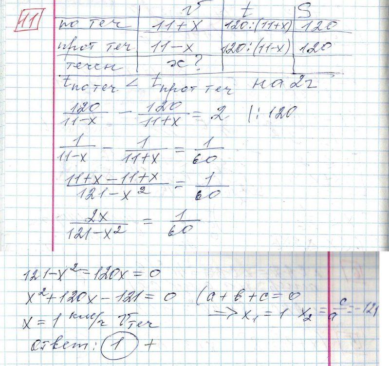 Задние 11, Вариант 4, решение и ответ - Ященко ЕГЭ 2018 математика профиль 36 вариантов
