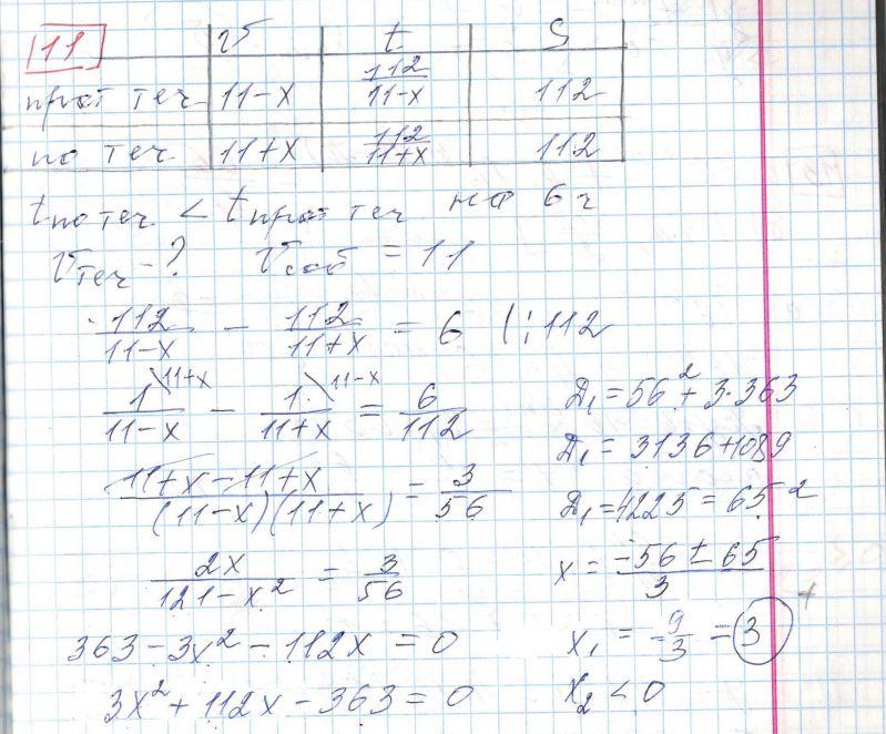 Задние 11, Вариант 5, решение и ответ - Ященко ЕГЭ 2018 математика профиль 36 вариантов