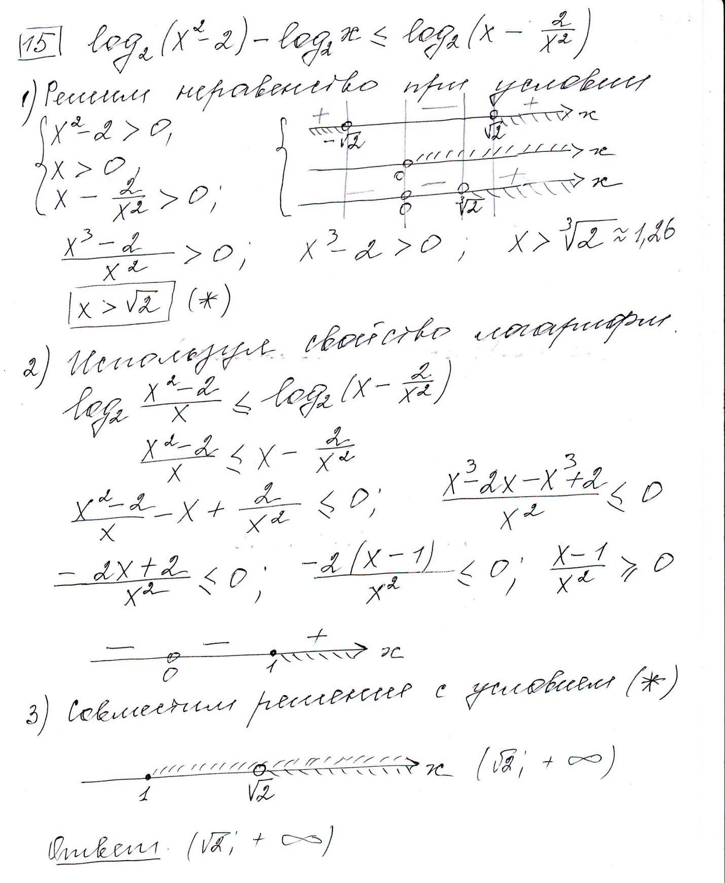 Задние 15, Вариант 3, решение и ответ - Ященко ЕГЭ 2019 математика профиль 36 вариантов
