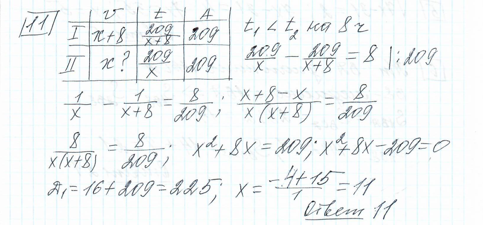 Задние 11, Вариант 7, решение и ответ - Ященко ЕГЭ 2019 математика профиль 36 вариантов