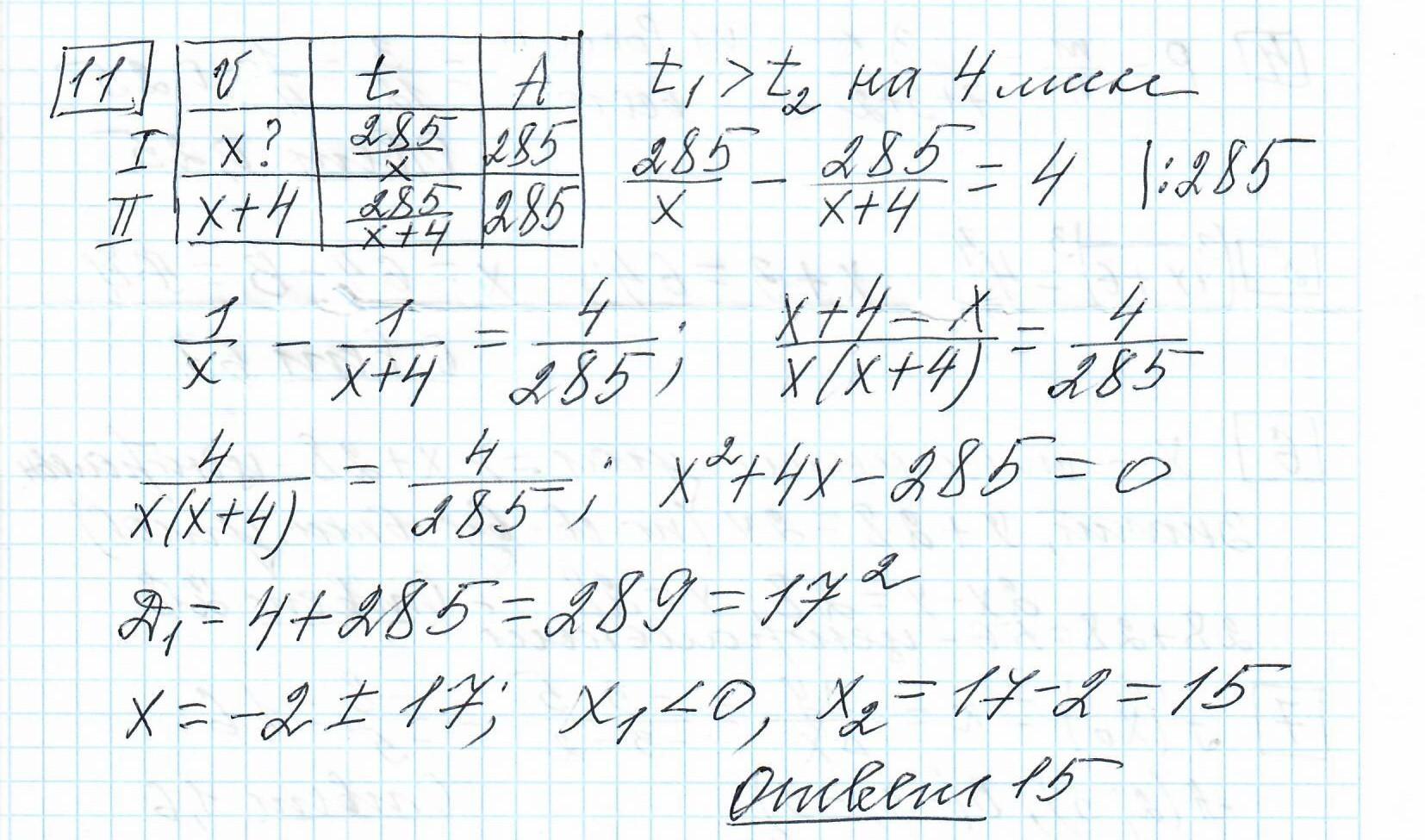 Задние 11, Вариант 8, решение и ответ - Ященко ЕГЭ 2019 математика профиль 36 вариантов